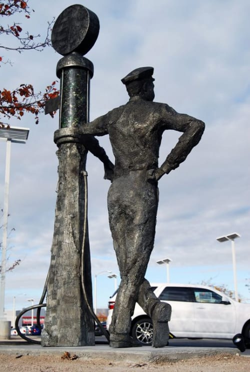 Public Sculptures by Andrew Miguel Fuller •Sculpture seen at 1130 Auto Mall Dr, Lancaster - Old Fashioned Service