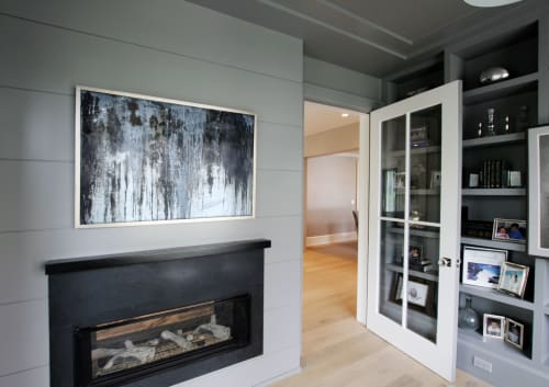 Art Curation by Alina Knechtle seen at Private Residence, New Canaan - Black and White with Statement