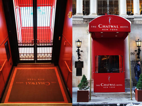 Rugs by Lucy Tupu at The Chatwal, a Luxury Collection Hotel, New York City, New York - Custom Entry Rug