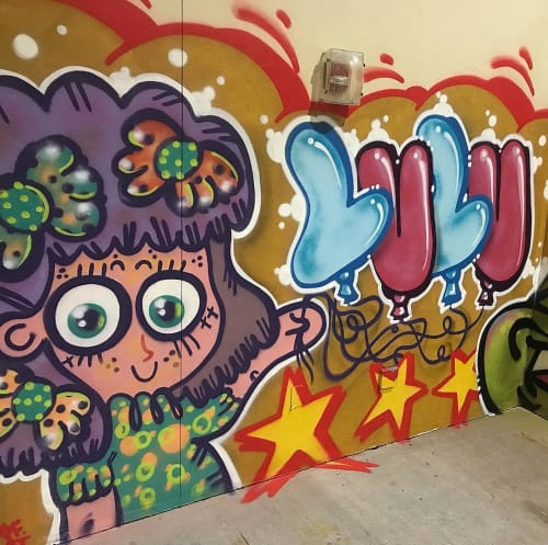 Murals by LULUKATHULU seen at Miami-Dade County - Mural