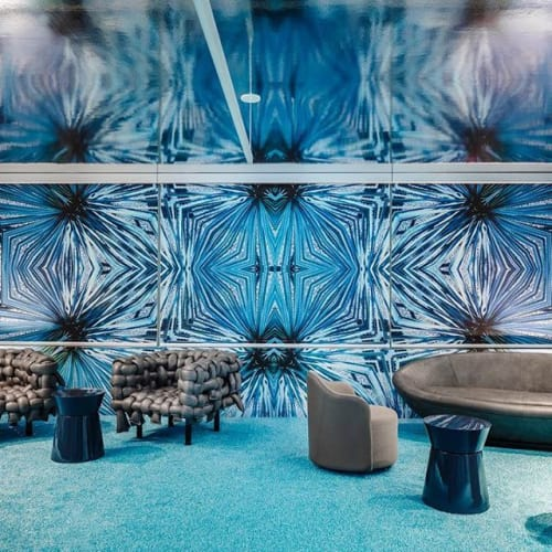 Wall Treatments by EDGE Collections seen at Brickell City Centre Residential Sales Gallery, Miami - Agave Rendezvous by EDGE Collections