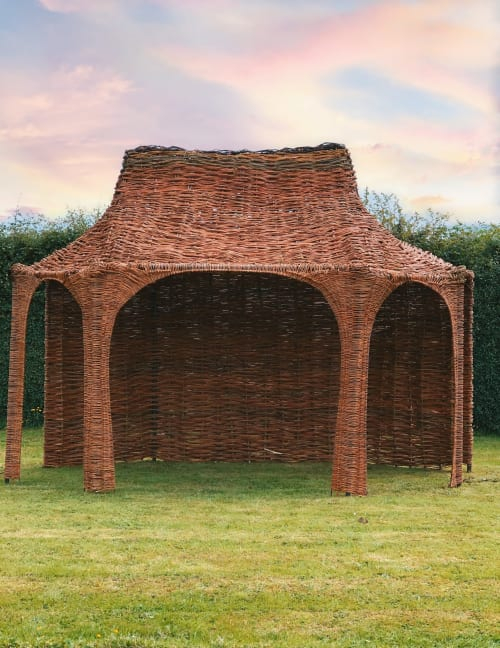 Architecture by Newgrange Willow Design seen at Private Residence, Slane - Unique willow structure (garden feature)