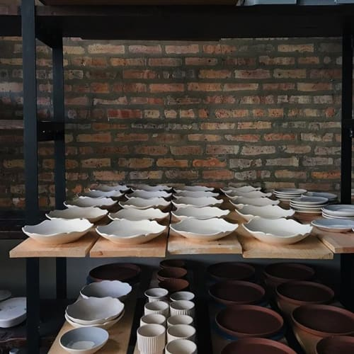 Ceramic Plates by Monsoon Pottery at Private Residence, Chicago - High Priestess Dish - Porcelain