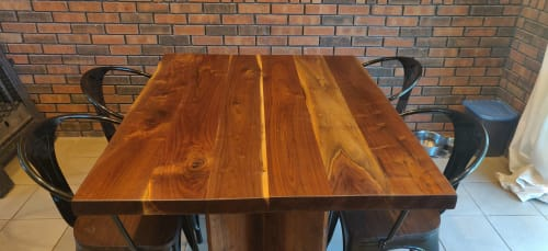 Tables by KC Exotic Woodworks LLC seen at Private Residence, Grandview - Black walnut