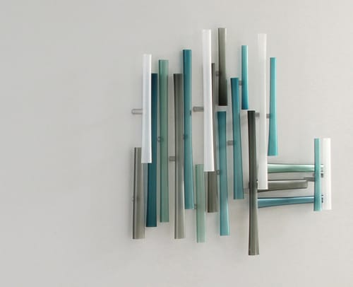 Sculptures by Jeffries Glass seen at Private Residence, Seattle - Intersection Series