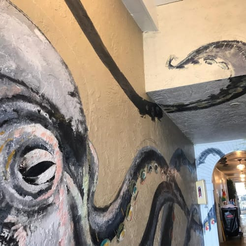 Murals by CoLette RueLette seen at Havana Cabana At Key West, Key West - Octopus Mural
