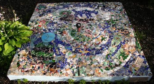 Public Mosaics by Dina Bursztyn at Dutchmens Landing Park, Catskill, NY, USA, Catskill - Catskill Sundial