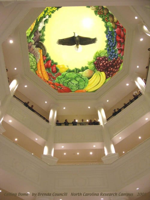 Murals by Brenda Mauney Councill seen at North Carolina Research Campus, Kannapolis - Superfoods