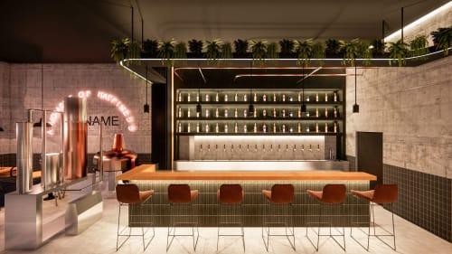 Interior Design by Studio Hiyaku seen at Space2B Laneway Cafe, St Kilda - Galok