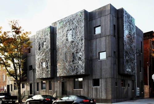 Wall Treatments by Jenny Sabin Studio seen at Memphis Street, Philadelphia - LightWeb