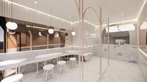 Interior Design by Studio Hiyaku seen at A Yogurt Cow, Melbourne - A Yogurt Cow Melbourne