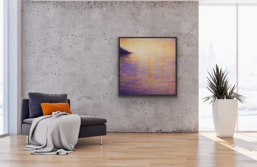 Paintings by Victoria Veedell seen at San Francisco, San Francisco - Sunset Reflections Abstract Landscape