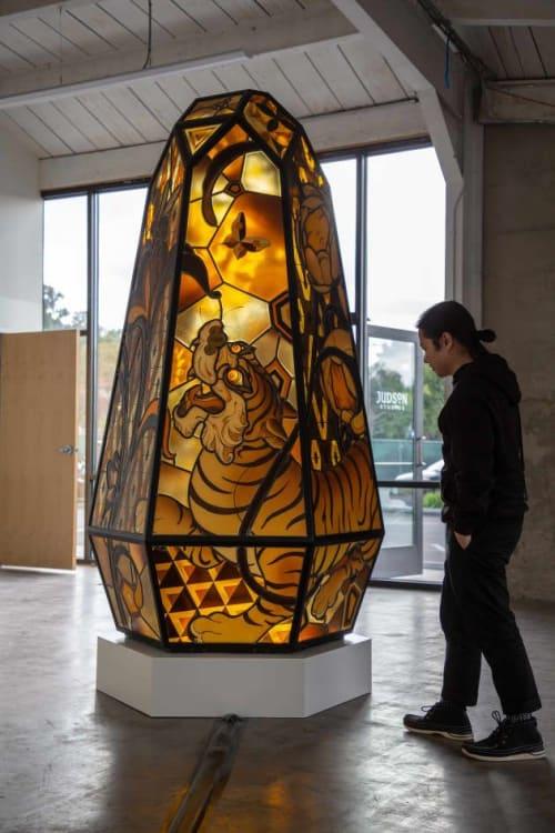 Public Art by Judson Studios seen at Lotte Museum of Art, Seoul - Gaia by James Jean