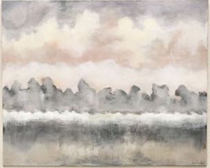 Paintings by Lori Sperier Art seen at The French Mix by Jennifer DiCerbo, Covington - Soothing Sky