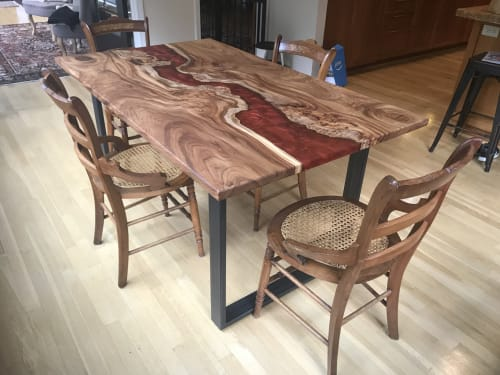 Tables by Beneath the Bark seen at Private Residence, Portland - Resin River Table