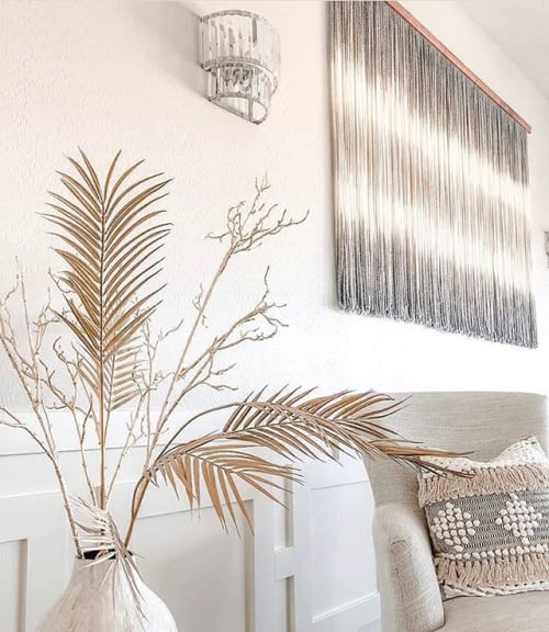 Macrame Wall Hanging by Vita Boheme Studio seen at Private Residence, Colorado City - Custom hand dyed fiber canvas