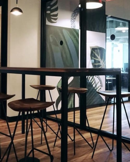 Chairs by From the Source seen at WeWork, Miami - Perch Stools