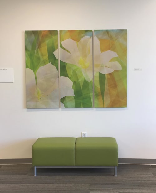 Art & Wall Decor by Rica Belna seen at Kaiser Permanente Santa Rosa Medical Offices, Santa Rosa - Rica Belna's floral creations for healing environments