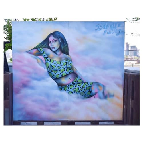 Murals by Isabelle Ewing seen at Brooklyn Beer Garden, Brooklyn - Brooklyn Beer Garden Mural