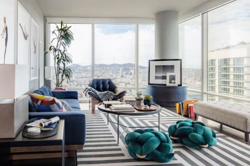 Couches & Sofas by Knots Studio By Neta Tesler seen at Private Residence, San Francisco - Teal Knot Floor Cushion