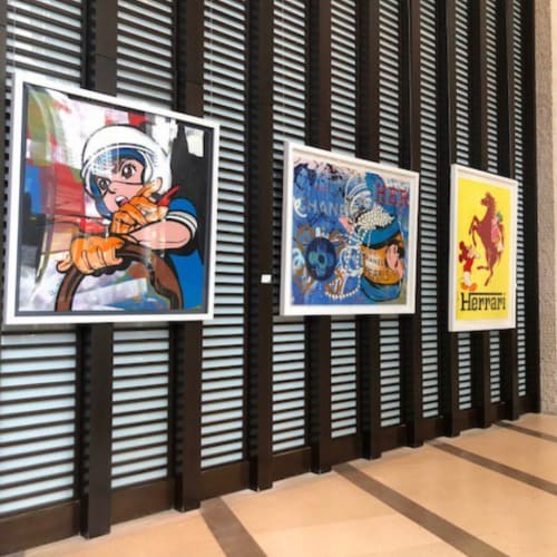 Paintings by Skyler Grey seen at Kimpton EPIC Hotel, Miami - EPIC Hotel Collection