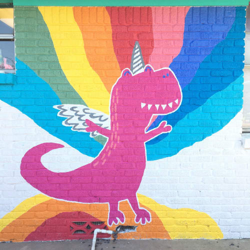 Murals by Avery Orendorf seen at Figment Creative Labs, Austin - Figment Creatives labs mural