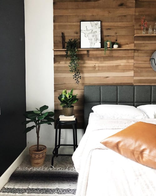 Wall Treatments by Weaber seen at Holly | Calling All Creators - Hardwood Wall