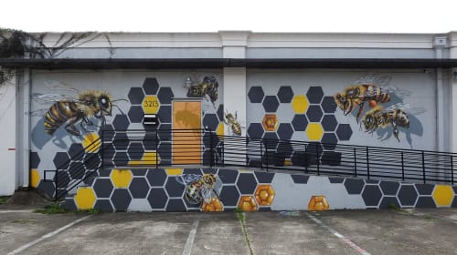 Street Murals by Anat Ronen seen at The Storyhive, Houston - The Storyhive mural