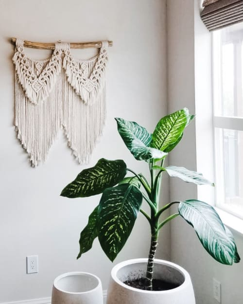 Macrame Wall Hanging by Holm Made Macrame by Angela Holm seen at Private Residence, Henderson - Macrame Wall Hanging