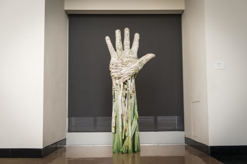 Sculptures by Andrew Ramiro Tirado seen at Colorado Springs Fine Arts Center, Colorado Springs - Compass