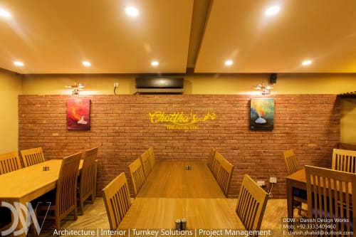 Interior Design by Danish Design Works seen at Private Residence, Islamabad - Chattha's Restaurant