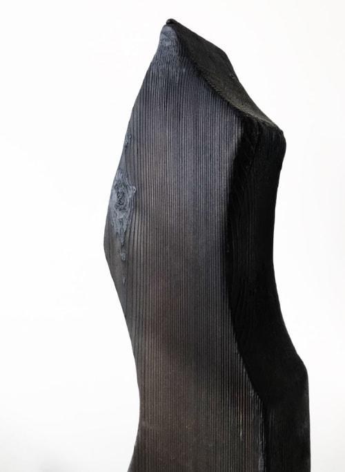 Untitled 6. Charred cedar wood sculpture. | Sculptures by Neshka Krusche