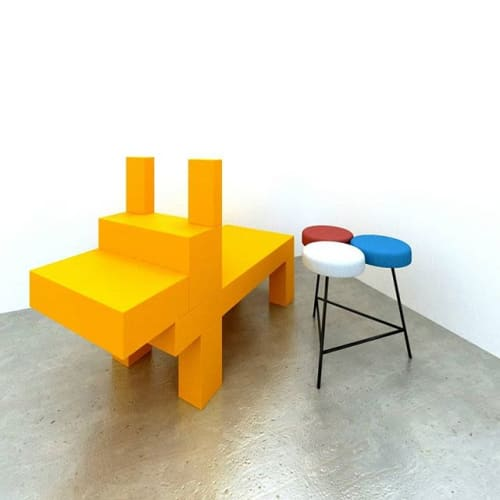 Chairs by Bad Chair seen at Private Residence, Manila - Trio Stool
