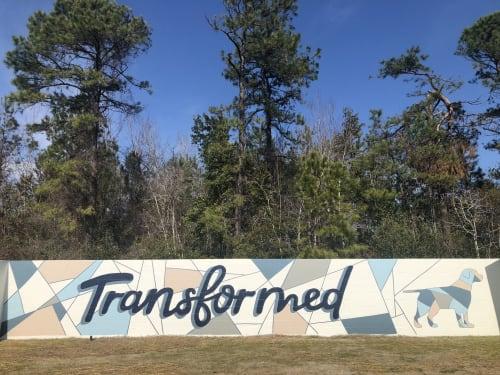 Murals by Ella Creates seen at Wilmington, Wilmington - Transformed Mural