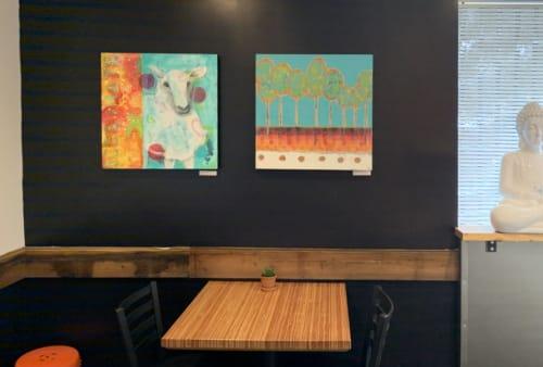 Paintings by Emily Williams-Wheeler seen at 1545 S University Dr, Fargo - Luna Fargo