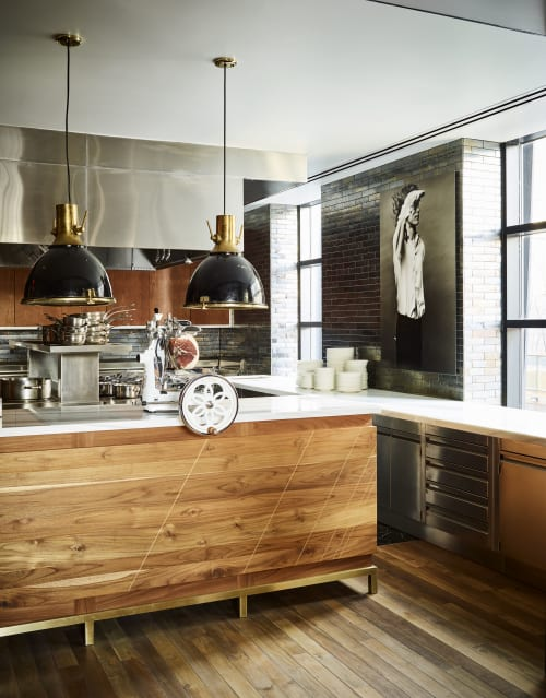 Interior Design by Norman Seeff Studio seen at New York, New York - Legacy Records Test Kitchen