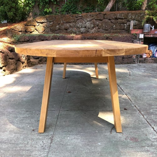Tables by Black Rose WoodCraft seen at Private Residence, Portland - White Oak Dining Table