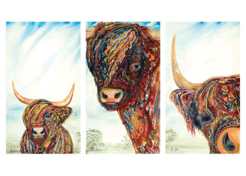 Paintings by Amy Hooton seen at Private Residence, Maryville - The Three Coos Commission