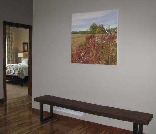 Paintings by Kathleen Krishnan seen at Private Residence, Minneapolis - Orange