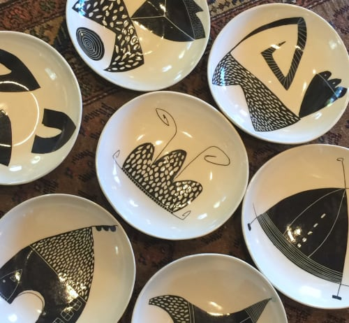 Ceramic Plates by Paula West Pottery LLC seen at Private Residence, Al Rideem - Pasta Bowl
