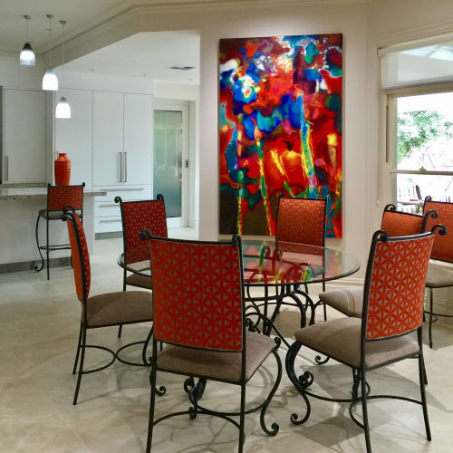 Paintings by Guy Hawson seen at Private Residence, Sydney - Orange Abstract 1
