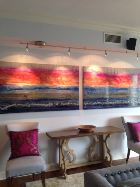 Paintings by Kelly Walker seen at The Ritz-Carlton Residences, Baltimore, Baltimore - Peaceful Morning Light