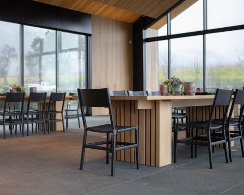 Chairs by Fyrn seen at Silver Oak Alexander Valley, Healdsburg - Mariposa Standard Chairs