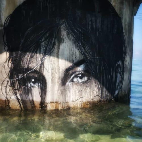 Street Murals by Stefania Gallina - MAPU Lab seen at Nusa Lembongan - Breath in, breath out - Personal mural
