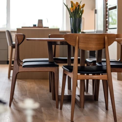 Furniture by James Hopper Furniture seen at Private Residence, Saskatoon - Scando Dining Table & Chairs