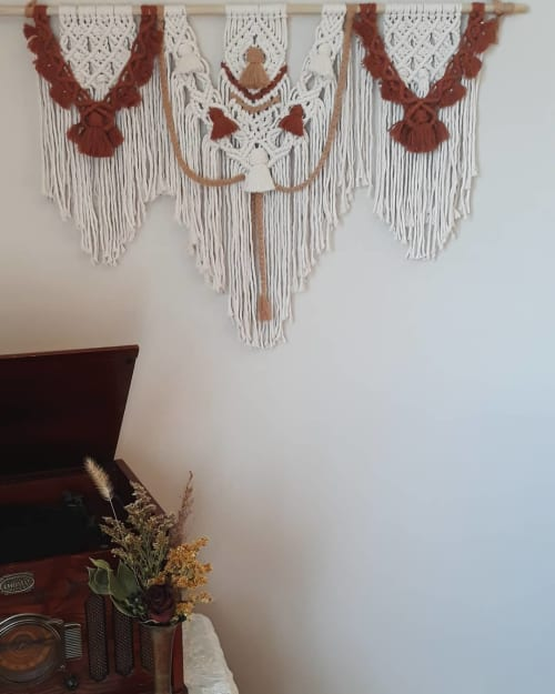 Macrame Wall Hanging by Tangled Up In Knots seen at Creator's Studio, Knightstown - Romantic Cascade Wall Hanging