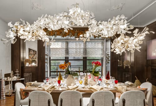 Chandeliers by ANDREEA BRAESCU PORCELAIN AND LIGHT INSTALLTIONS seen at New York, New York - Dining room Porcelain Light Sculpture