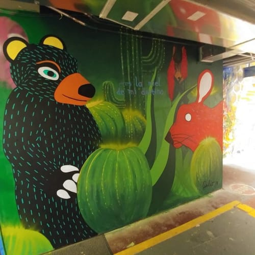 Murals by Wonder What If Art by Julio Gonzalez seen at Oso Skate Park, Charlotte - Mural