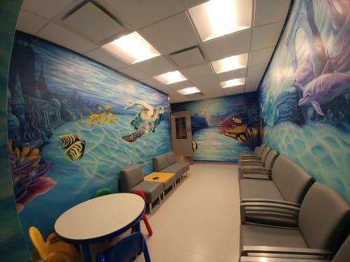 Murals by Jessie Novik Murals seen at Mount Sinai Kravis Children's Hospital, New York - Jessica Novik
