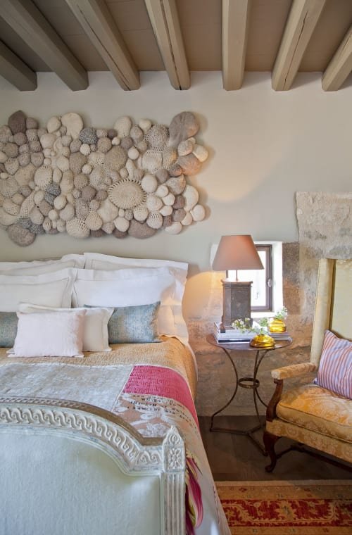 Wall Hangings by Ernie and Irene seen at Private Residence, Lacoste - All Like Sheep Crocheted Headboard Wall Hanging